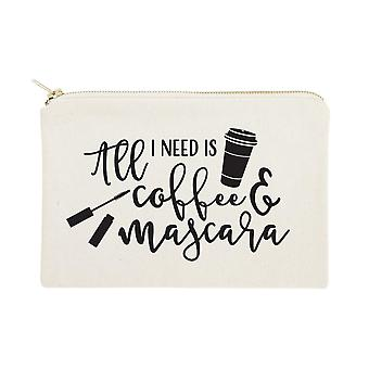 All I Need Is Coffee Mascara-cotton Canvas Cosmetic Bag