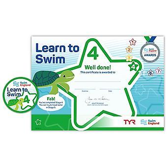 ASA zwemmen Engeland leren zwemmen Award fase 4