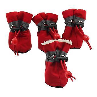 Haustier Winter Warm Weich Kaschmir Anti-Rutsch Regen Schuhe Für Hund