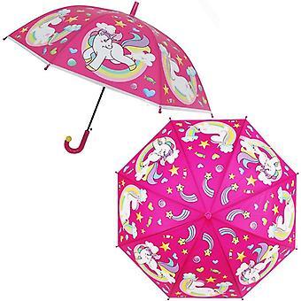 Sakura Transparent Umbrella Semi Automatic Kids Umbrella
