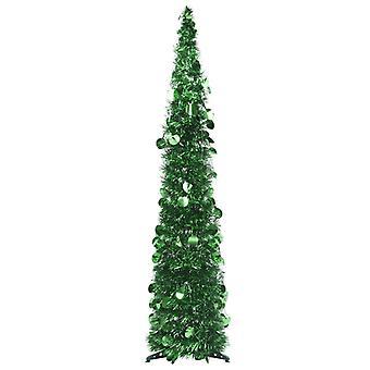 vidaXL الاصطناعي المنبثقة شجرة عيد الميلاد الأخضر 120 سم PET