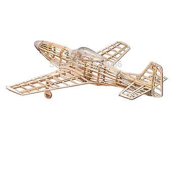 Mini Rc -taso laserleikattava Balsa Wood Airplane Kit P51 P-51 -mallinen rakennussarja