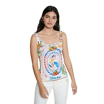 Desigual Thine in Love Aloho Hawaii Print Vest Top SS21 Style 21SWTKDU