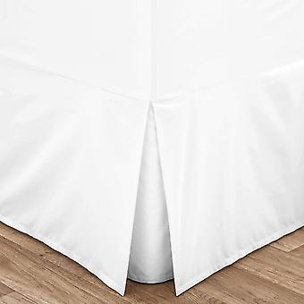 DZK Easy Iron Percale Single Fitted Valance Sheet White