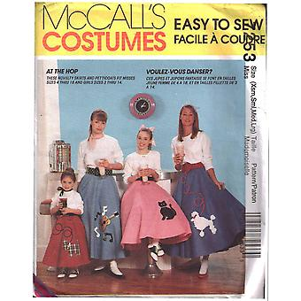 McCalls Schnittmuster 7253 Misses PudelRöcke Kostüm Größe XS-LG