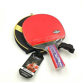Strong Spin Table Tennis Racket 5-plywood Blade Bat Pimples In Rubber