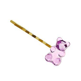 6 Candy Bears Haarspangen Barrettes Farbige Bären Haarnadel / Mädchen
