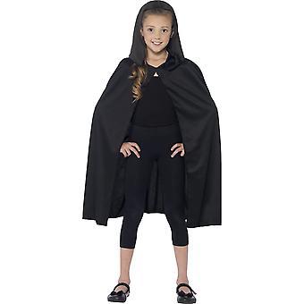 Cape à capuche noire enfant Halloween