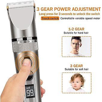 HanFei Haarschneidemaschine Set, Haarschneidemaschine wiederaufladbarer USB Profi Haarschneider Set,