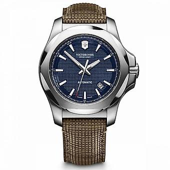 Victorinox I.N.O.X. Relógio masculino em couro marrom