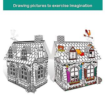 Assembled House 3D Puzzle Cardboard Model Toys