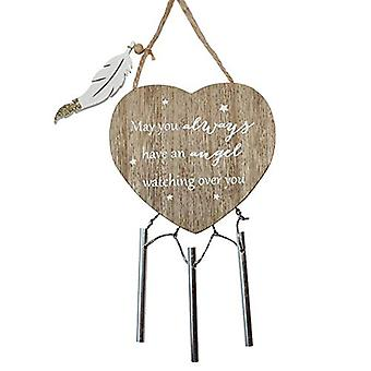 Thoughts of You Heart Windchime - Always Angel (One Random Supplied)
