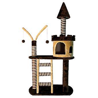 Arquivet Scraper Castle Brown / beige 70X40X125Cm (Cats , Toys , Scratching Posts)
