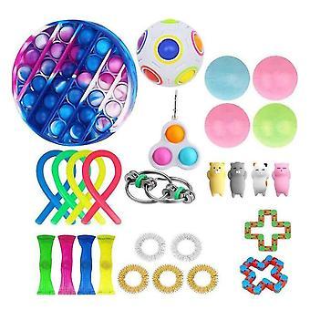 27pcs Pack Fidget Toys Sensory Toy Set Antistress Relief Fidget Toys
