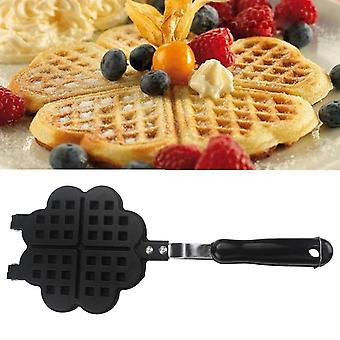2 Sided Heart Shaped Wafflee Maker Non-stick Casting Mold Pancake