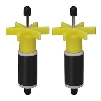 2x gul filterdele løbehjul til udskiftning dykpumpe 16mm