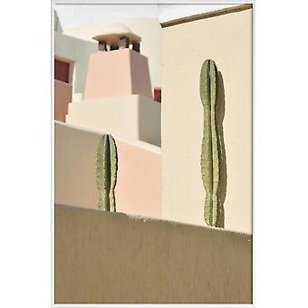 JUNIQE Print - Hidden Gems - Architectural Details Poster in Cream White & Pink