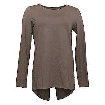 Anybody Women's Top XXS Cozy Knit Split Back Long Sleeve A367691