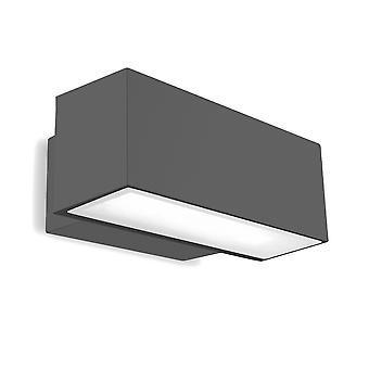 LEDS C4 Afrodita Emergency Outdoor LED Hätätila Alas Vaalea Kaupunki Harmaa, Osittain hiekkapuhallettu IP65 19W 3000K