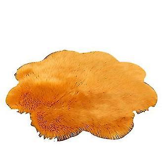 50Cm beige plush round bedroom carpet round cushion az1804