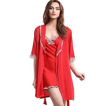 Regenboghorn Sexy Lingerie Nachtjapon Lace Sling Pyjama SetsRobe Sleepwear P1013