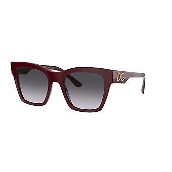 Dolce&Gabbana DG4384 30918G Bordeaux/Harmaa Kaltevuus Aurinkolasit
