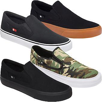 Dc Shoes Trace Slip-On Low Rise Textile Skater Zapatillas Zapatillas de Zapatillas