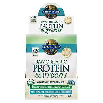 Garden of Life Raaka proteiini ja vihreät, Kevyt Makea 1 Tarjotin