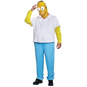 Homer Jay Simpson Deluxe The Simpsons Funny Cartoon Adult Mens Costume L-XL