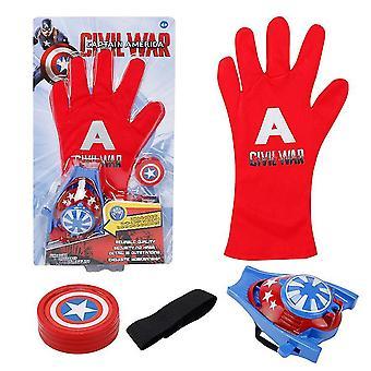 Kinderen speelgoed handschoen zender, accessoires hero handschoen homecoming superheld verkleden kostuums (Red2)