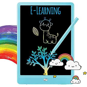 Writing Tablet Doodle Board Colorful Drawing Tablet Writing Pad 11 Inches(Blue)