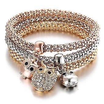 Majs elastisk kvinder armbånd ugle smykker