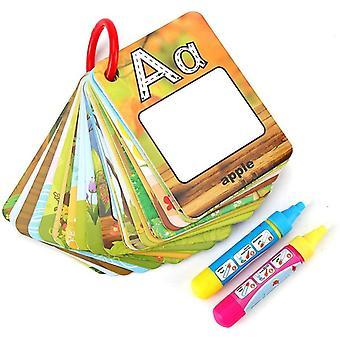 Zauber Wasser Malen Alphabet Zahlen Wort Doodle Karten mit Magic Drawing Stift Kinderspielzeug