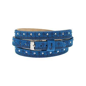 Il mezzometro strass leather bracelet  bms1304_s