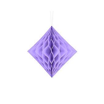 LAST FEW - 20cm Lilac Diamond Honeycomb Paper Party Decorations