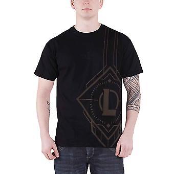 League Of Legends T Shirt Side print logo new Official Mens Black