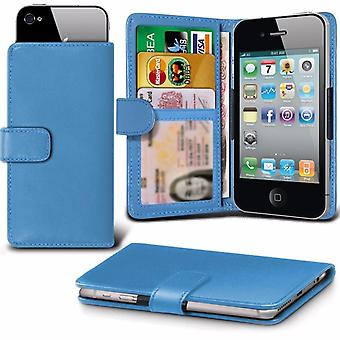 iTronixs - Alcatel Onetouch Idol 3 (4,7) (4,7 pouces) affaire Clamp Style portefeuille protection PU cuir Etui Housse - Baby Blue