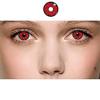 Bellafata Color Contacts For Eyes Cosplay Party, Makeup Party, Party Toy, Fashion Show, Halloween Party (red06)