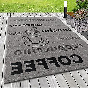Flat Fabric Tapijt Indoor Outdoor Tapijt Sisal Look Design Koffie Grijs