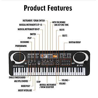 Elektronisches Klavier für Kinder mit Mikrofon Klavier Multifunktionale 61 Tasten Musikinstrumente