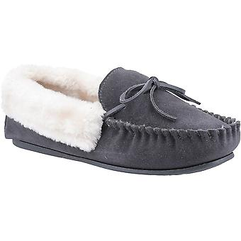 Cotswold Womens Sopworth Slip On Suede Moccasin Slippers
