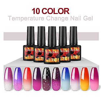 10 Colors Thermal Nail Varnish, Gel Varnish, Uv Colors, Thermal Varnish, Gel Nails, Colored Varnishes, Led Varnishes