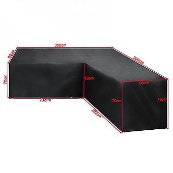 الفناء الأثاث يغطي الثقيلة واجب في الهواء الطلق غطاء أريكة مقطعية، للماء 100٪ الفناء المقطع الأريكة الغطاء، على شكل حرف V غطاء أثاث فناء الحديقة