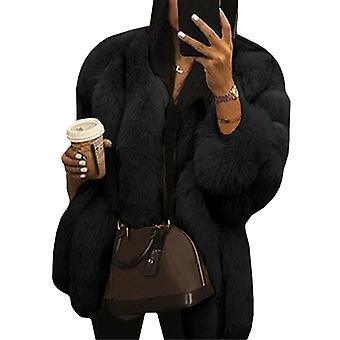 Nők Teddy Bear Faux Fur Coat Jacket túlméretezett outwear