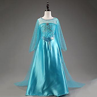Frozen Elsa Fancy Dress Kids Girl Princess Tulle Vestes Fantasia cosplay