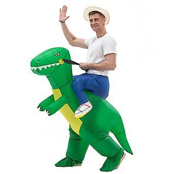 Green Adult Model (150-200cm) Yutube Same Dinosaur Inflatable Costume Halloween Costume
