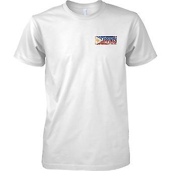 Phillipines Grunge Land Name Flag Effect - Kinder-Brust-Design-T-Shirt