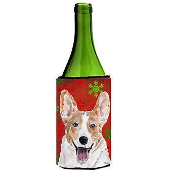 فصيل كورجي سترة الثلج الأحمر زجاجة النبيذ عطلة المشروبات نعالها عازل