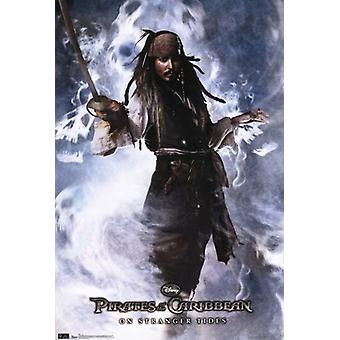 Pirates of the Caribbean 4 On Stranger Tides capitaine Jack Sparrow affiche Poster Print