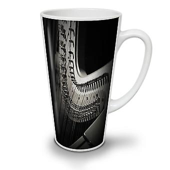 Harp Instrument Art NEW White Tea Coffee Ceramic Latte Mug 12 oz | Wellcoda
